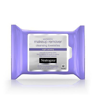 Neutrogena Makeup Remover Pre-Moistened Towelettes, Night Calming (25 CT)