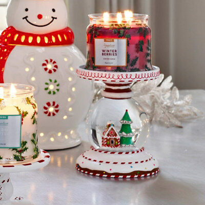 Partylite Let It Snow 3-Wick Jar Holder NIB! P92537