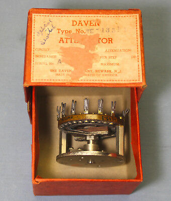 NOS Daven Stepped Attenuator/Switch WE-135-1