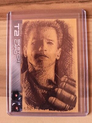 Terminator Arnold Schwarzenegger Sketch Card from Andy Fry - Unstoppable Cards