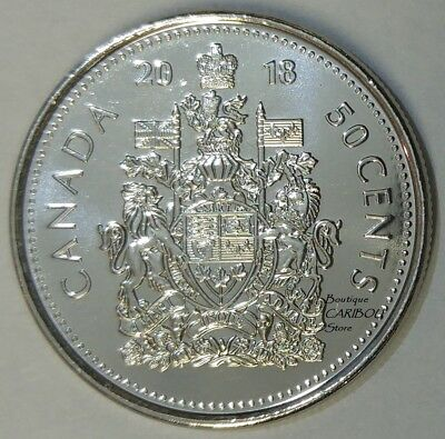 2018 Canada 50 Cents Coat of Arms BU