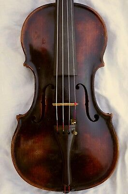 Nice Interesting  Antique Violin 352mm body length