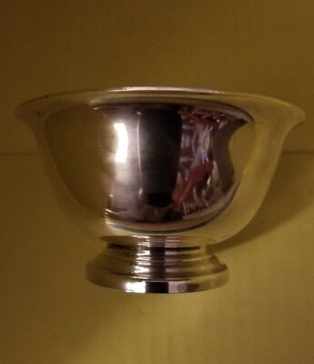 Reed &  Barton Miniature Paul Revere Design Bowl Silver Plated Silverplate