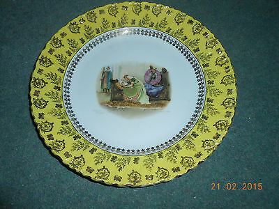 carlsbad pottery pictorial charger wall plate walter paget