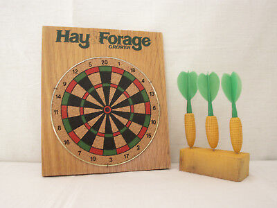 Hay & Forage Grower Dartboard Corn Hay Farm Seed Man Cave Darts Game