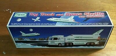 1999 Hess Truck and Space Shuttle with Satellite - NIB