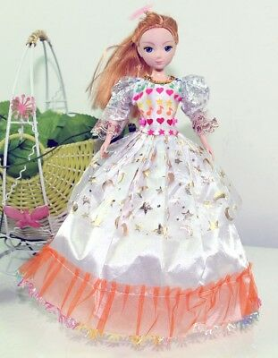 Handmade Party Dress Fashion White Clothes For Barbie Doll Outfit Gown Wedding R