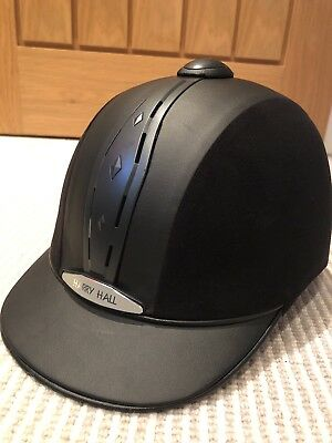 Ex Con Harry Hall Riding Hat With Cover Size 6 5/8 54