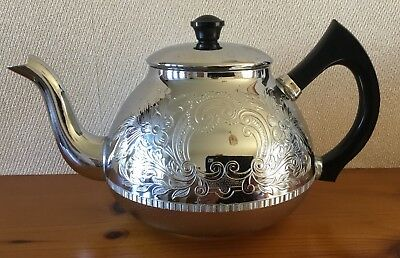Vintage swan Brand,Tea Pot Cromalin, The Carlton,Holds Six Cups, Made In England