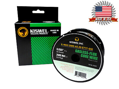 Kiswel USA K-NGS E71T-GS 0.035in. Dia 2lb. Gasless-Flux Core Wire Welding wire