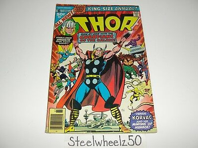 Thor Annual #6 Comic Marvel 1977 Korvac Saga Prologue Guardians Of The Galaxy