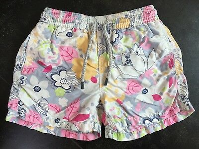 Boys Genuine Vilebrequin Floral Pattern Swim Shorts, Age 6 Years