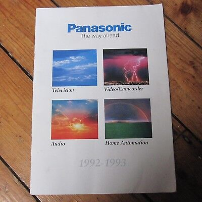 Panasonic Product Catalog Vintage 90s 1992 93 Audio Visual AV Video etc