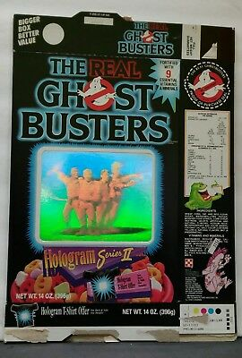 Old Vintage  1980's 80's Ralston Ghostbusters Hologram empty  Cereal Box