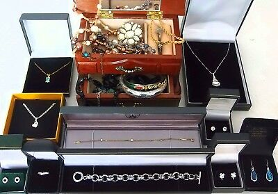 Job lot of vintage and modern jewellery including 925 sterling silver 19th june