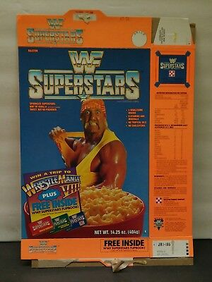 1991 WWF SUPERSTARS Empty  Cereal Box  HULK HOGAN good old days