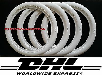 15'' Atlas Whitewall Portawall Topper Rubber Tire Ring Set of x4 pcs.