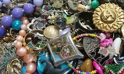 Huge  17.3 Lbs  -  Gonna LuV IT  Junk Drawer Mixed vintage - now  Jewelry Lot