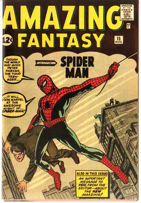 Amazing Fantasy 15 Custom Made Cover 1964 Reprint 1st Spiderman REPRINT DAMAGED