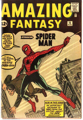 Amazing Fantasy 15 Custom Made Cover 1980'S Reprint 1st Spiderman REPRINT