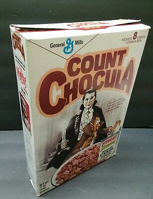 Vintage 1980s 80s Count Chocula empty Cereal Box - flat box only - General Mills