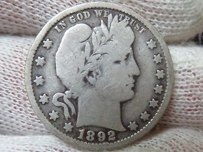 1892 O Barber silver Quarter and free shipping