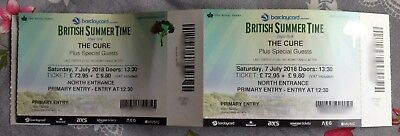 The Cure Barclaycard British Summer Time - July 7th 2018 Hyde Park - 2 Tickets