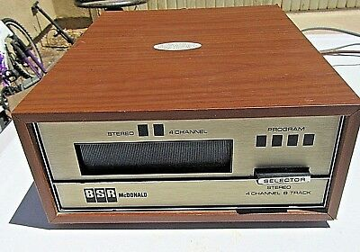 8 TRACK Stereo 4 channel tape deck BSR-McDonald TD8QW PC3582 S17 S VTG electron