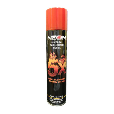 2x Can NEON 5x PURIFIED BUTANE GAS TORCH REFILL 300ml ULTRA REFINED(L136)