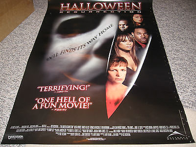 Halloween Resurrection Poster Jamie Lee Curtis Tyra Banks Loree Rhymes Katee