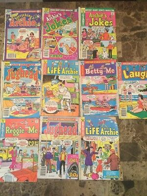 1970's Archie comics lot Jokes Jughead Life With Betty And Me Laugh Reggie