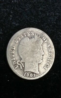 1901-S  Barber Silver Dime - A Low Mintage Key Date For The Series -