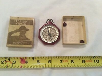 Vintage Boy Scouts Of America Compass W/Box