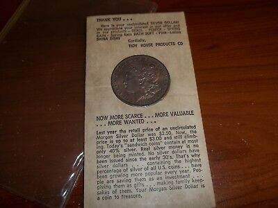 1885-O Morgan Silver Dollar - Tidy House Soap Co. - Nice Uncirculated Toner