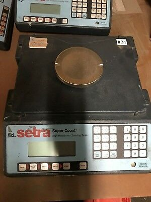 "SC-35 Setra Super Count Counting Scale, 5.5 lb x 0.0001 lb ""FOR PARTS"""