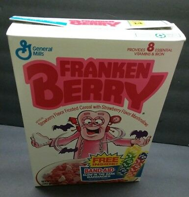 Classic  1992 General Mills Frankenberry  empty Cereal Box