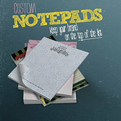 """Custom Printed Scratch Pads 25 sheets each 50/lot Branded Notepads 4.25 x 5.5"""""""