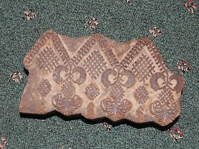 Vintage Hand Carved Antique Wood Block for Wood Block Printing