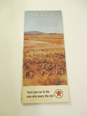 Vintage Texaco Mexico Oil Gas Service Station Road Map