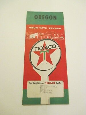 Vintage Texaco Oregon Oil Gas Service Station Road Map