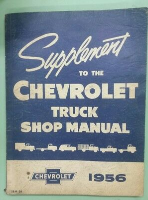 1956 Supplement to the Chevrolet truck shop manual