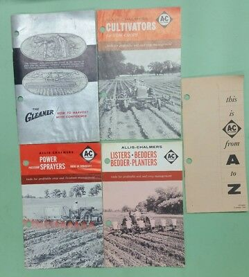 1960's lot of Allis-Chalmers tractor/equipment brochure/The Gleaner
