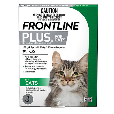 Frontline Plus 3-Pack Fleas and Lice Control For Kittens and Cats - Green