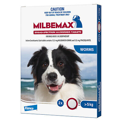 Milbemax Broadspectrum Allwormer Tablets for Large Dogs 5-20kg