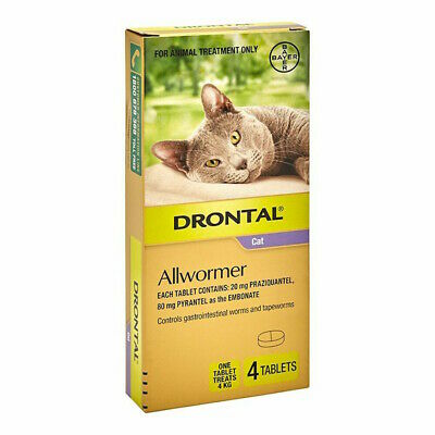 DRONTAL All Worming Treatment for Cats 4 Tab Pack (Upto 4 Kg)