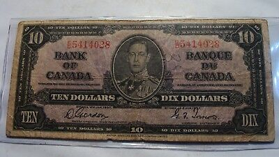 1937 Bank of Canada  $10 note   Fine
