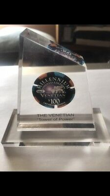 Venetian Casino Las Vegas $100 Millennium Chip Limited Edition In Lucite