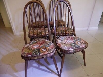 6 Original condition Ercol dining chairs in beautiful condition