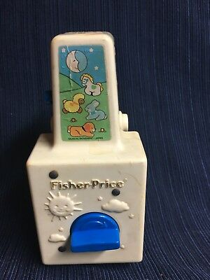 1984 Vtg Fisher Price Dancing Animals Mobile Music Box Lullaby Just Box Works!