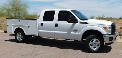2013 Ford F250 Super Duty 4X4 Crew Powerstroke Diesel Service Utility Bed